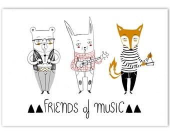 Friends os music print