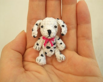 Dalmatian - Crochet Miniature Dog Stuffed Animals - Made To Order