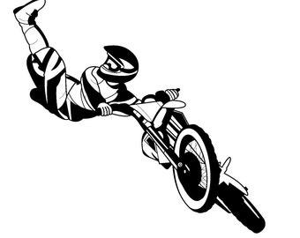 Stunt Biker Left Kick // FLONZ Clear stamp clingy acrylic