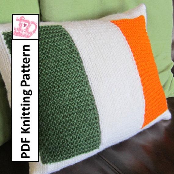 PDF KNITTING PATTERN Irish Flag knitting pattern