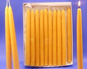 "Beeswax Tapers, 15 Pair of 3/4"" x 10"" Bees Wax Taper Candles, 30 Beeswax Hand Dipped Candle Tapers, Clean Burning, Orgainc Beeswax Tapers"