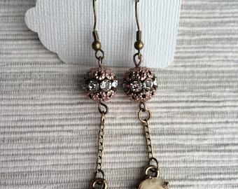 Rose Dangle Copper Earrings