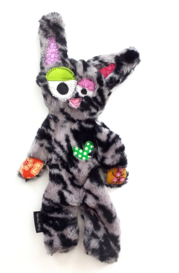 Stuffing & Squeaker Free Snuggly Fugly Dog Toy with Secret Heart Fortune- Puddles by Fugly Friends