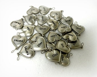 23 Letter E NAMES- Hard to find-  LOT 23 Pieces- Initial E-  Alphabet Bracelet Supplies- Key Chains- Necklaces- Zipper Pulls