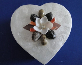 Seashells Sea Shell Capiz Jewelry Box