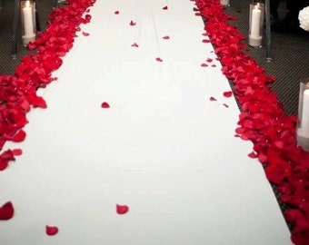 Ivory  Custom Made Aisle Runner 50 feet Long by 48inches wide (Rose Petals are not included)