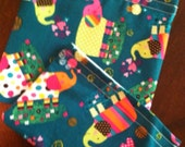 Colorful Elephants Reusable Lunch Bags-Set of 2