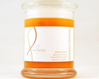 9 oz  Mango Papaya Soy Jar Candle