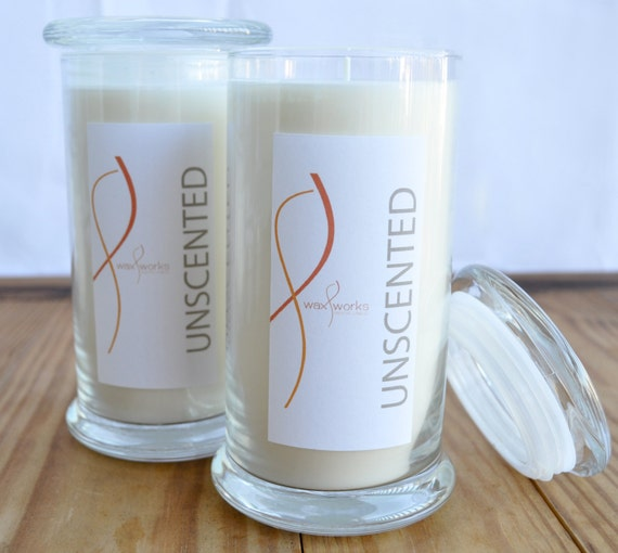 17 oz Soy Jar Candle - Unscented