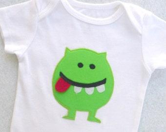 Baby Monster Bodysuit Green