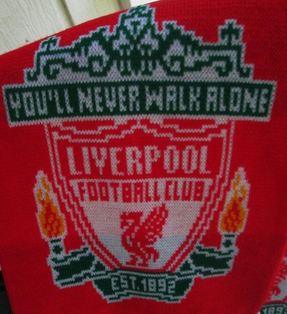Knitting Club Logo : You ll never walk alone liverpool football club scarf
