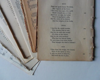 80 vintage book pages ephemera pack - vintage paper pack ephemera - pages for collage - paper emphemera