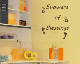 Showers of Blessings - Words and Letters Decal