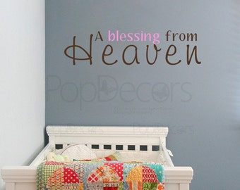 A blessing from Heaven - Words and Letters Decal