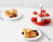 Miniature Heart Shaped Pancake Breakfast