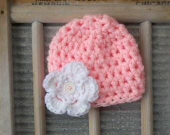 baby girl Hat flower girly Newborn Baby Crochet Beanie Boy Girl Colors crocheted photo prop props studio foto infant bebe