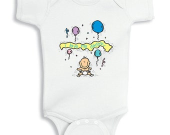 I love My Daddy with balloons - baby bodysuit or infant TShirt