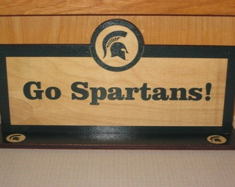 MSU Sign Desk Size - Spartan Helmet