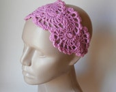 Crochet Headband - HeadBand - Hair Accessories - Crochet HairBand in LIlac Pink