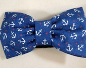 Dog Bow Tie or Flower - Tossed Anchors