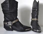 SALE Women's Size 7 1/2 Embellished Zodiac Boots