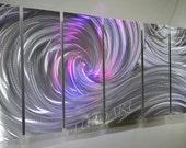 Metal art Silver LED Halogen colour light reflect 3D Video effect living room wall decor boardroom sculpture modern hand made  Lubo Naydenov