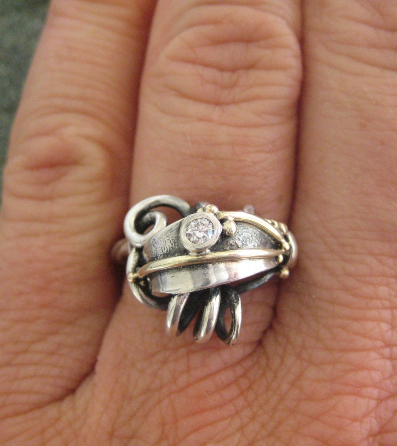 unique wedding ring with conflict free