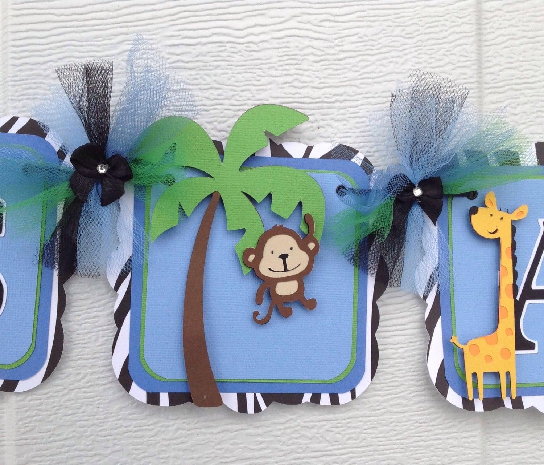 Safari Jungle Animals Banner It S A Boy Banner Baby