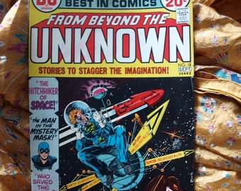 From Beyond The Unknown No 18 DC Comic Book Sci Fi Horror Space Mike Kaluta Space Hitchhiker