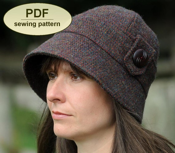 New: Sewing pattern to make the Kettlebaston Cloche Hat - PDF hat pattern INSTANT DOWNLOAD