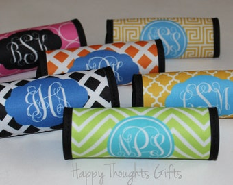 Monogrammed Luggage Handle Wrap - Monogrammed Luggage Finder - Personalized - Monogram Gift