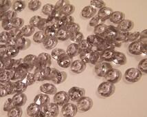 Gray Diamond Confetti // 1000 MICRO Small Faux Diamonds // Grey Wedding Table Scatter Confetti // Table Centerpiece Accent // Vase Filler
