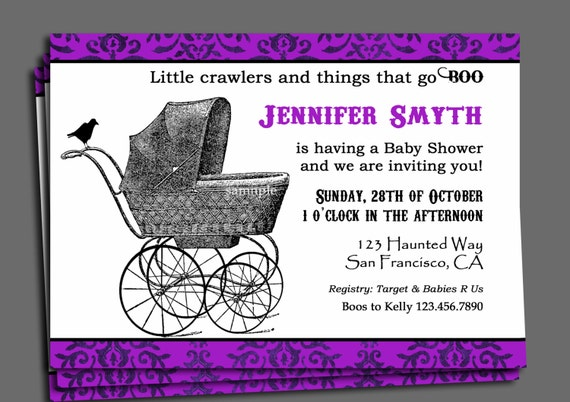 Halloween baby shower invitation printable or printed with free il570xn filmwisefo