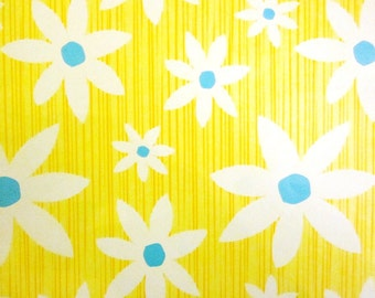 Vintage Wrapping Paper - Sunny Flowers - One Sheet