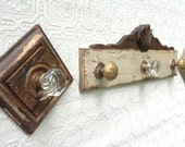RESERVED for Michele Canilla-antique doorknob coatrack, architectual salvage from the 30's repurposed for modern furnishings