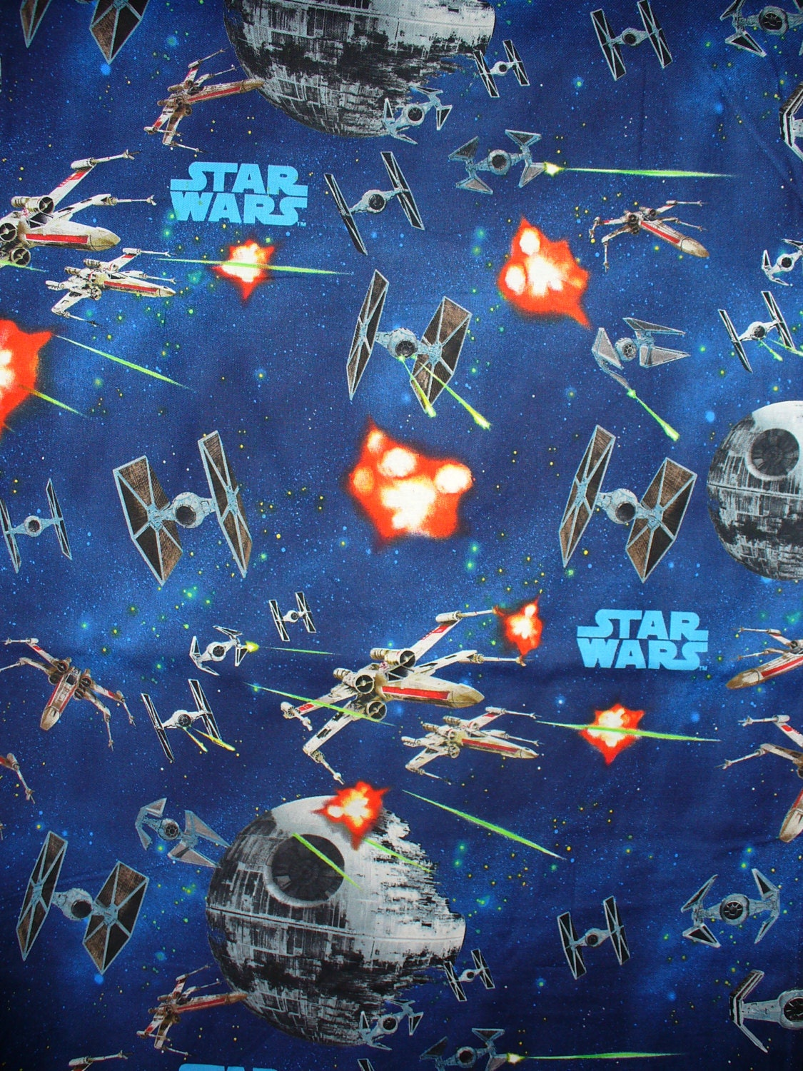 Star wars ships fabric millennium falcon tie fighters for Star wars fabric