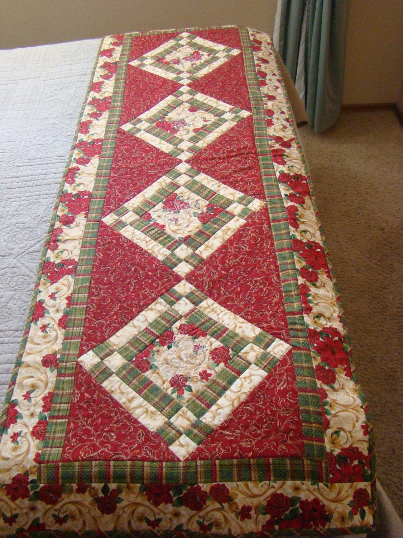 Christmas Bed Runner or large table runner