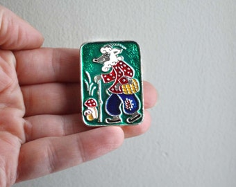 Vintage Russian Pin. Colourful Folk / Cartoon Badge. Please choose one. SHIPS FREE.