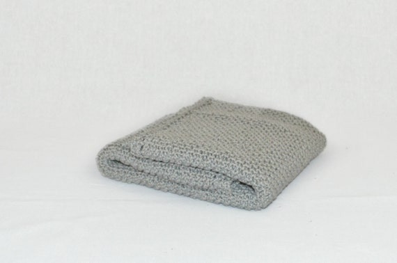 Cotton Baby Blanket Grey Slate