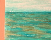 Ocean Art, Acrylic, Turquoise Painting, Coastal Art, Original Art, Seascape, Wave Painting, Aqua, Green, Sea Art, Nautical Art