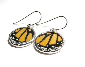 Monarch Butterfly - Real Monarch Butterfly Wing Jewelry
