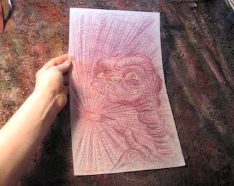 E.T., Original Illustration