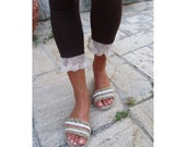 Cord & Twine Sandals - Crochet Pattern included Cord Sole-Tutorial -  Instant Download