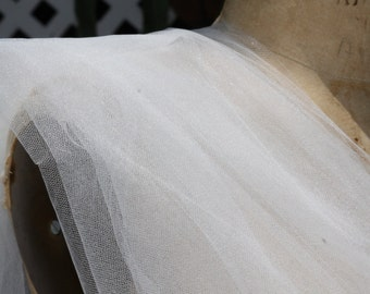 LIGHT IVORY Bridal Illusion Tulle .. 4 yards .. 108 Inches Wide. - Veils, bridal ware, fashion apparel