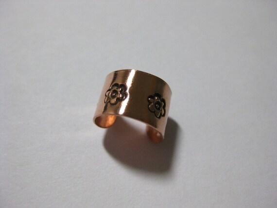 Flowers Copper Ear Cuff