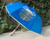 Vintage 60s Childrens Dome Umbrella with Safety Windows