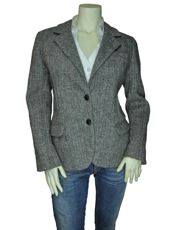 Reserved Women S Harris Tweed Herringbone Pinstripe Blazer