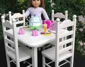 American Girl Doll:  Furniture, Doll Square table 4 chair set
