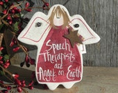 Speech Therapist Gift Salt Dough Ornament