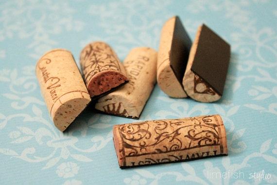 Wine Cork Magnets - Set of 6 - Lightweight OR Super Strong